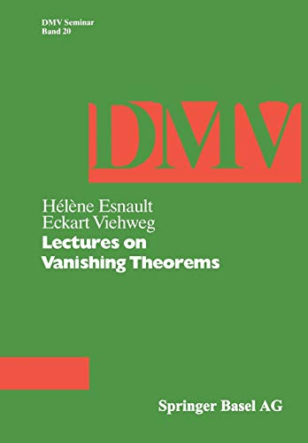 9783764328221: Lectures on Vanishing Theorems (DMV Seminar)