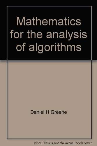 9783764330460: Mathematics for the analysis of algorithms (Progress in computer science)