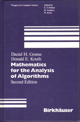 9783764331023: Mathematics for the Analysis of Algorithms (Progress in Computer Science)