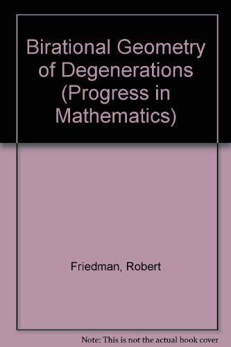 9783764331115: Birational Geometry of Degenerations (Progress in Mathematics)
