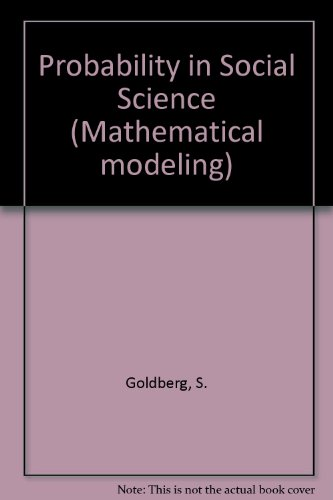 9783764331283: Probability in Social Science (Mathematical modeling)