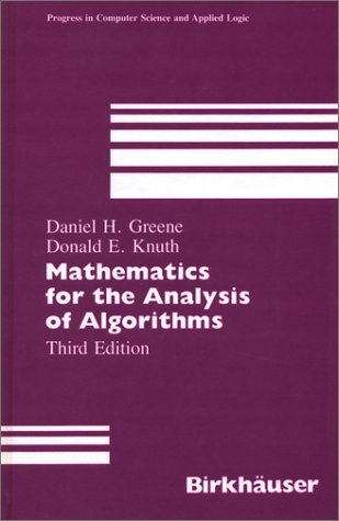 9783764335151: Mathematics for the Analysis of Algorithms