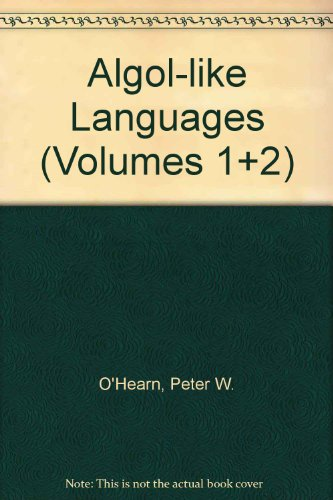 Algol-like Languages (Volumes 1+2) (3764339365) by Peter O'Hearn; Robert Tennant; Robert D. Tennent