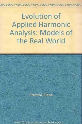 9783764341251: The Evolution of Applied Harmonic Analysis