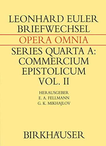 Briefwechsel Von Leonhard Euler Mit Johann I Bernoulli Und Niklaus I Bernoulli (Hardcover): ...
