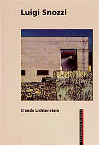 9783764354398: Luigi Snozzi Studio Paperback (Studiopaperbacks)