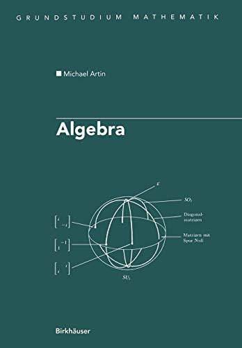 9783764359386: Algebra: Aus Dem Englischen Ubersetzt Von Annette a Campo (Grundstudium Mathematik)