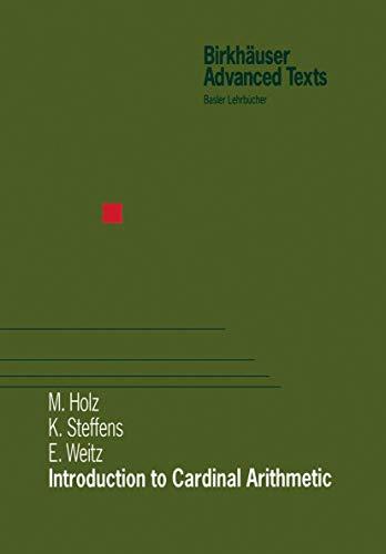 9783764361242: Introduction to Cardinal Arithmetic (Birkhäuser Advanced Texts Basler Lehrbücher)