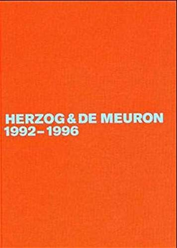 9783764362645: Herzog & De Meuron 1992-1996: The Complete Works: 3