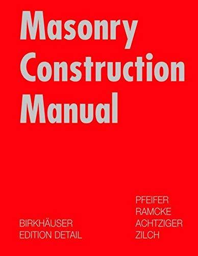 9783764365431: Masonry Construction Manual