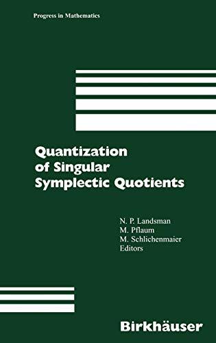 9783764366087: Quantization of Singular Symplectic Quotients (Progress in Mathematics)