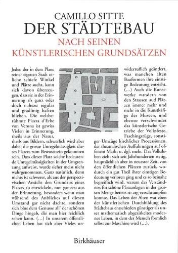 9783764366926: Der Stadtebau Nach Seinen Kunstlerischen Grundsatzen: Vermehrt Um Grossstadtgrun: Vermehrt um 'Grossstadtgr�n' (BIRKH�USER)