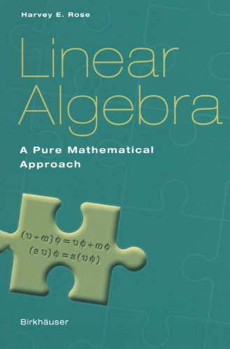 9783764369057: Linear Algebra: A Pure Mathematical Approach