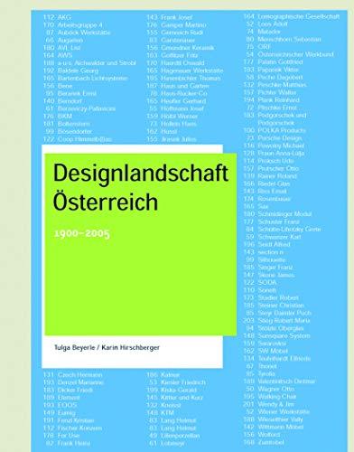 Designlandschaft Österreich: 1900-2005
