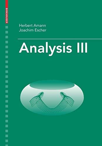 9783764374792: Analysis III