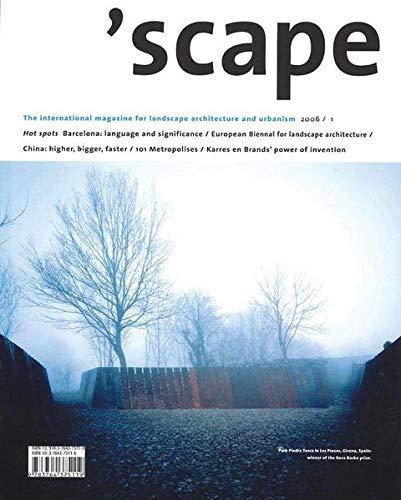 9783764375119: 'scape: The International Magazine of Landscape Architecture and Urbanism (v. 1)
