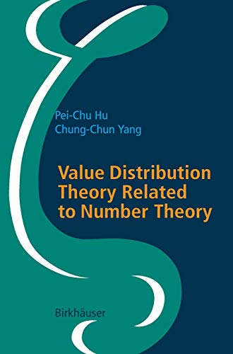 9783764375683: Value Distribution Theory Related to Number Theory