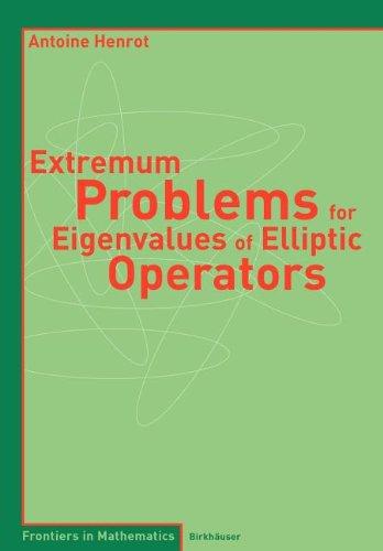 9783764391430: Extremum Problems for Eigenvalues of Elliptic Operators