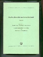 Das Bundesarchiv und seine Bestände. Übersicht.: Facius Friedrich Hans Booms und Heinz ...