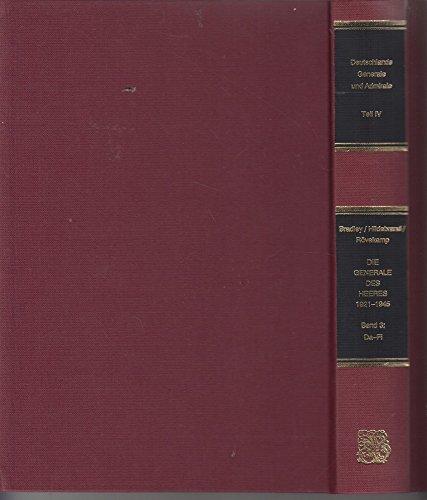 9783764824433: Die Generale des Heeres 1921-1945 - Band 3: Dahlmann - Fitzlaff