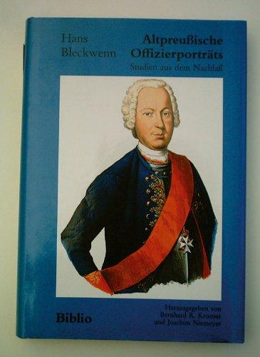9783764825843: Altpreussische Offiziersporträts: Studien aus dem Nachlass