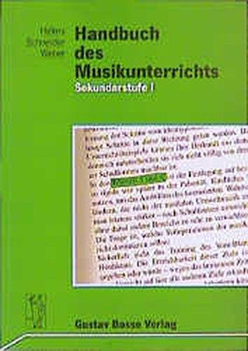 9783764926724: Handbuch des Musikunterrichts. Sekundarstufe I