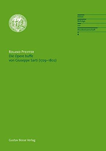 9783764927042: Die Opere Buffe Von Giuseppe Sarti (1729-1802)