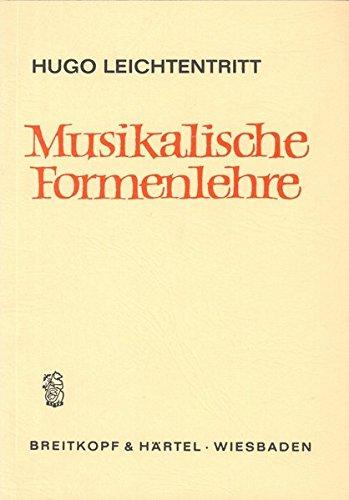 9783765100222: Musikalische Formenlehre