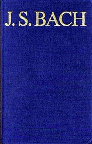 Thematisch-systematisches Verzeichnis der musikalischen Werke: Johann Sebastian Bach