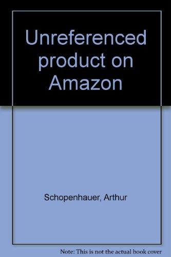 Sämltliche Werke Artur Schopenhauer Bd. 3 Die: Hübscher, Arthur und