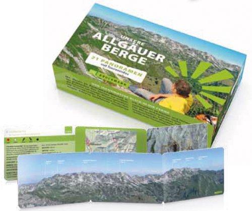 9783765462702: Unsere Allgäuer Berge: Die Kartenbox mit 21 Gipfelpanoramen und allen wichtigen Informationen, Wegbeschreibungen und detaillierten Wanderkarten zu den vorgestellten Wandertouren im Allgäu