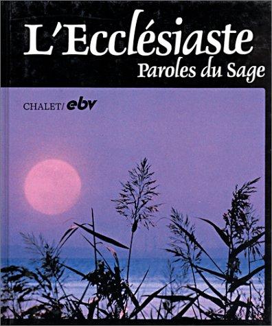 9783765578878: L'Ecclésiaste