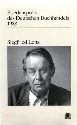 Friedenspreis des Deutschen Buchhandels 1983. Ansprachen aus: Lenz,Siegfried