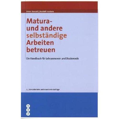9783766101020: Matura - und andere selbstA¤ndige Arbeiten betreuen