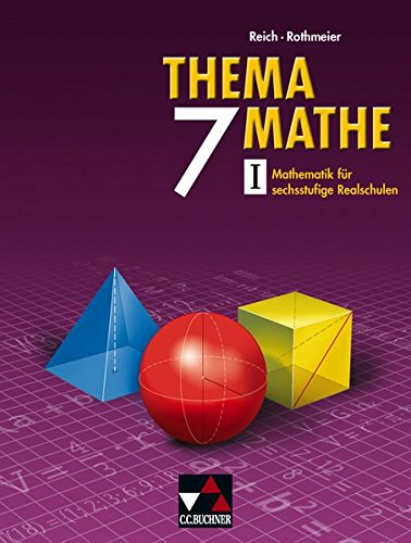 9783766160072: Thema Mathe 7. Neu