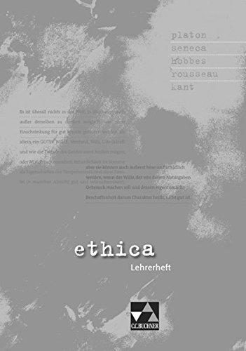 9783766166272: ethica Lehrerheft: Quellensammlung f�r das Fach Ethik in der Oberstufe