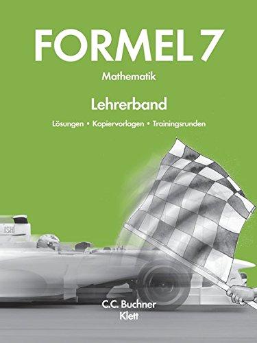 9783766182272: Formel 7 neu Lehrerband: Mathematik für Hauptschulen