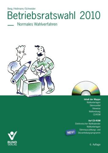 9783766339034: Betriebsratswahl 2010. Normal: Normales Wahlverfahren