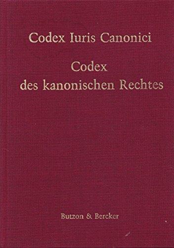 9783766693280: Codex des kanonischen Rechtes, lateinisch-deutsche Ausgabe: Mit Sachverzeichnis (German Edition)