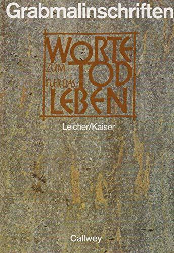 9783766707567: Grabmalinschriften