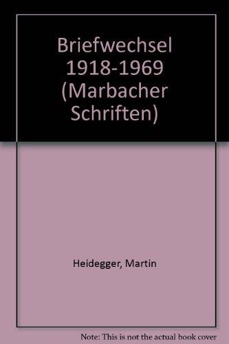 Martin Heidegger, Elisabeth Blochmann: Briefwechsel, 1918-1969 (Marbacher Schriften) (German ...