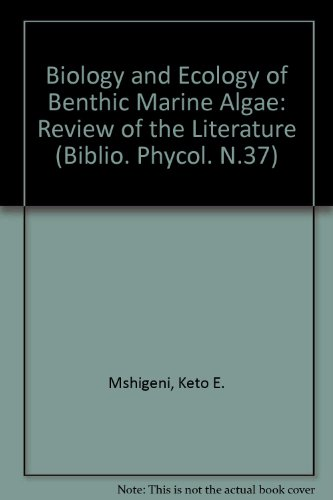 9783768211666: Biology and Ecology of Bethic Marine Algae With Special Reference to Hypnea (BIBLIO. PHYCOL. N.37)