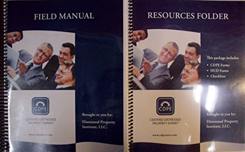 9783768487450: CDPE Certified Distressed Property Expert Field Manual