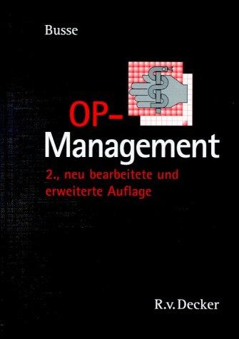 9783768504256: OP-Management (Livre en allemand)