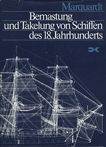9783768805261: bemastung_und_takelung_von_schiffen_des_18._jahrhunderts