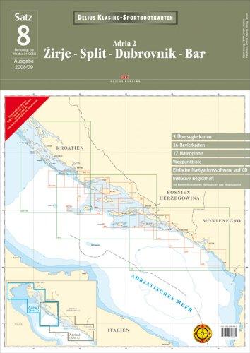 Delius Klasing Sportbootkarten: Sportbootkarten Satz 08. Adria 2: Zirje - Split - Dubrovnik - Bar: ...