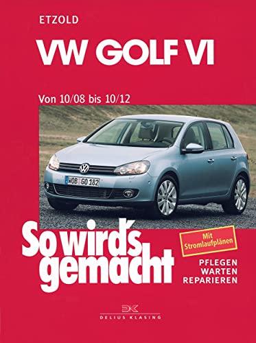 9783768826525: VW Golf VI von 10/08 bis 10/12: Benziner 1,2l/ 63kW (85 PS) 6/10-10/12 bis 2,0l/199kW (270 PS) 12/09-10/12. Diesel 1,6l/ 66kW (90 PS) 5/09-10/12 bis 2,0l/ 125kW (170 PS) 5/09-10/12