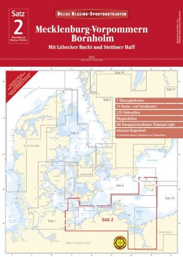 9783768837224: Sportbootkarten Satz 02: Mecklenburg-Vorpommern. Bornholm (2014): Mit Lübecker Bucht und Stettiner Haff( mit Navigationssoftware)