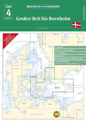 9783768837248: SportbootkartenSatz 04: Großer Belt bis Bornholm (Ausgabe 2014): mit Navigationssoftware