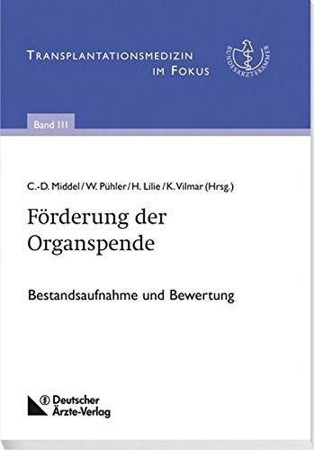 9783769135039: Förderung der Organspende: Bestandsaufnahme und Bewertung